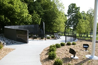 Plymouth dedicates new Veterans Memorial at June 29, 2015 Ceremony.