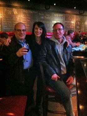 Dr. Gary Goldetsky with Mayor Kelli Slavik and councilmember Tim Bilsoe