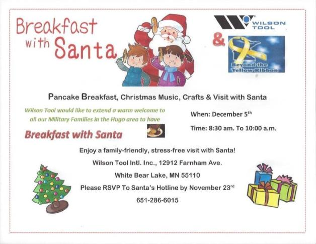 Wilson Tool Breakfast with Santa