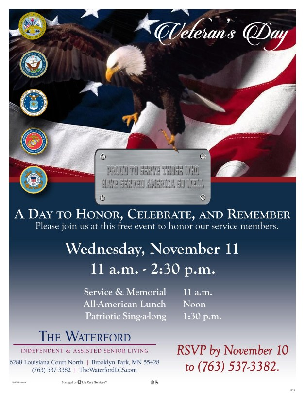 WM-447 Veteran's Day Celebration Flyer FINAL