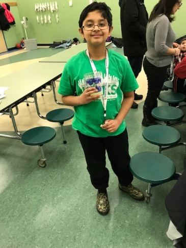 """""""Si"""" , a 5th grader served as our assistant and he did a super job at the event!!"""