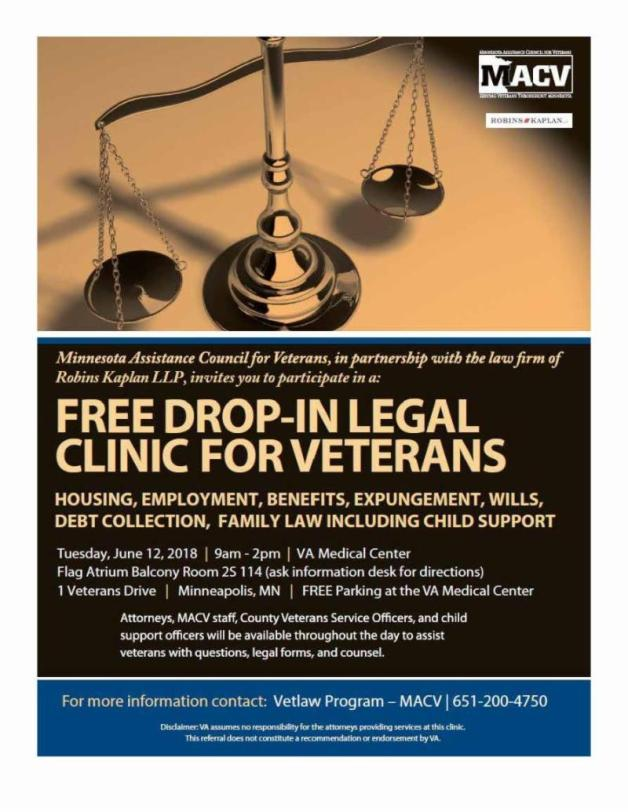Drop-in legal clinic