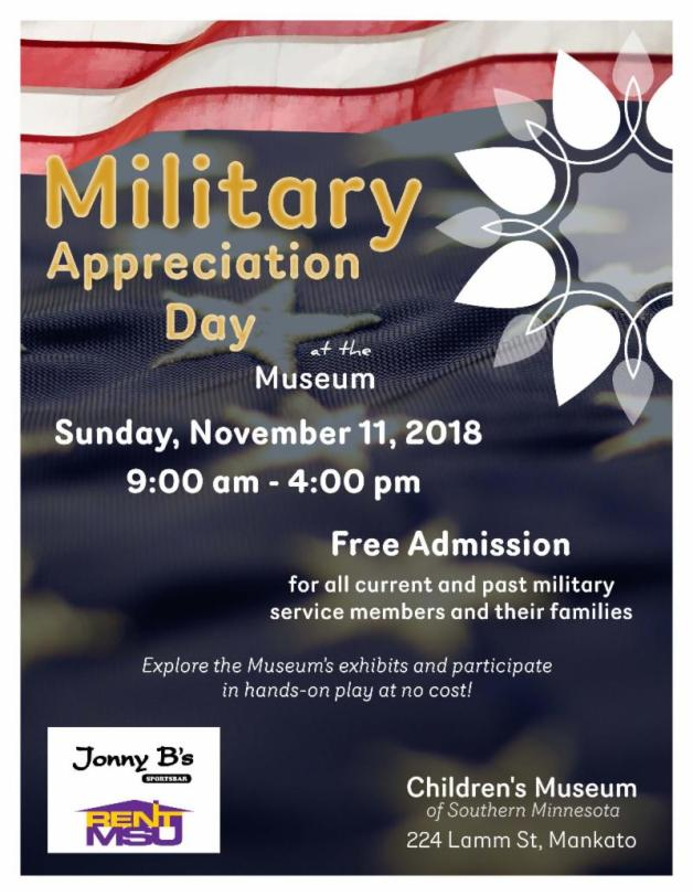 Military Appreciation Day at the Children_s Museum November 2018