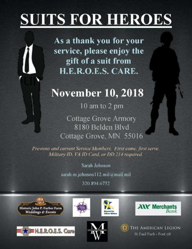 Suits for Heroes 2018